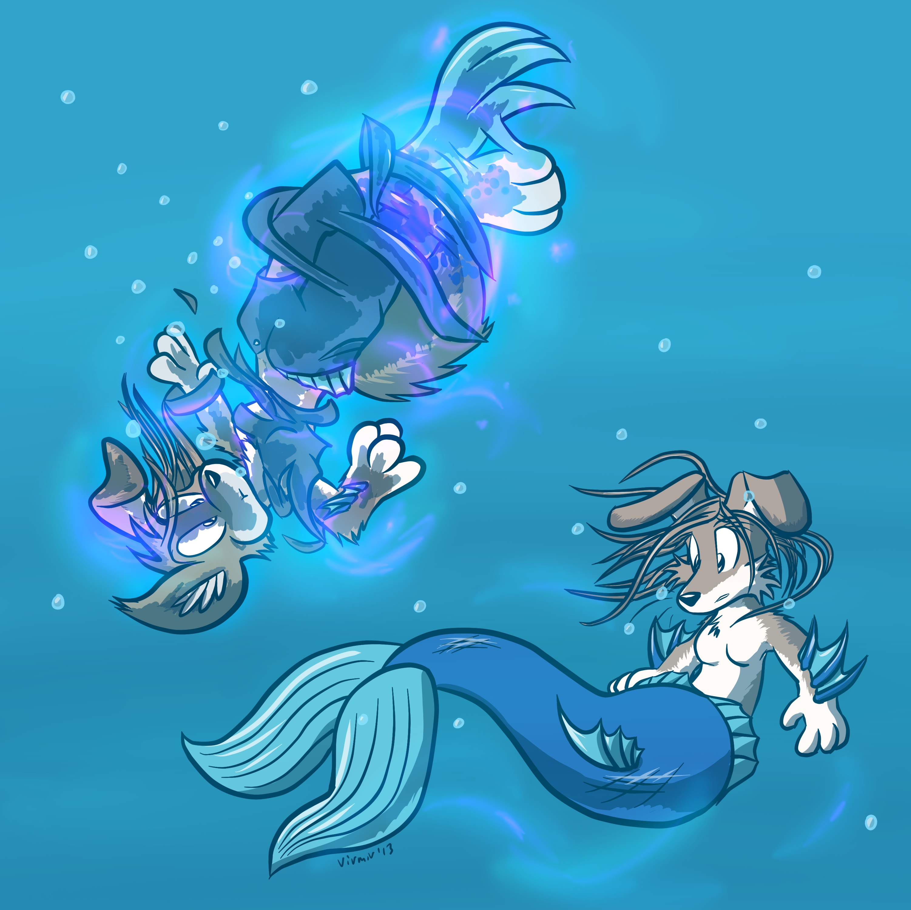 Art by Virmir: Mermaid Collie